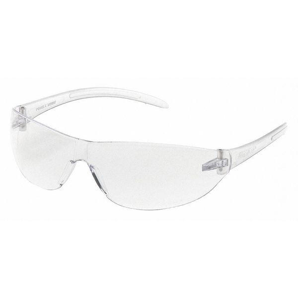 Pyramex Alair Safety Glasses Clear Frm, Clear Scratch-Resistant Lens S3210S