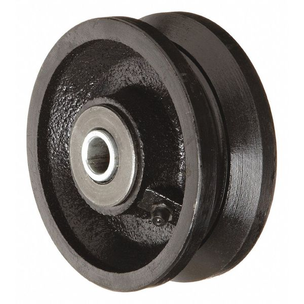 Zoro Select Caster Wheel, Cast Iron, 4 in. Dia, 800 lb. VIR-0420-08