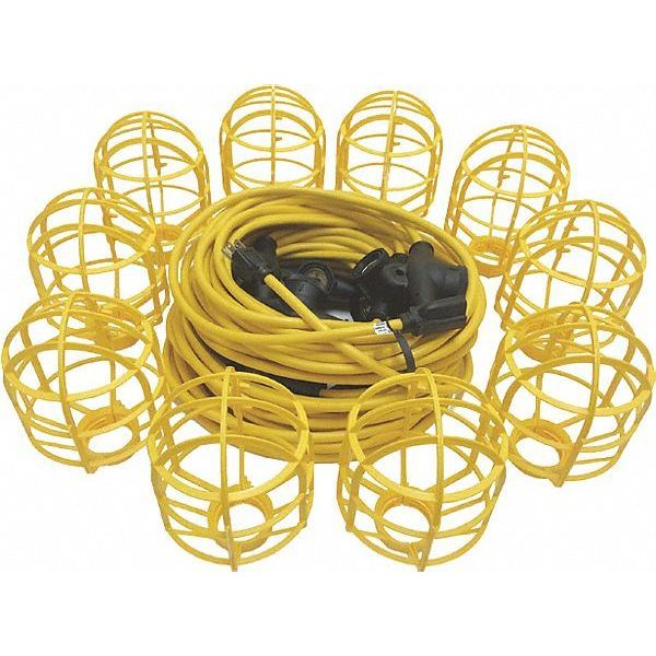 Etcon Corp Light String, Temporary, 10 Cages, 100 ft. TLS142