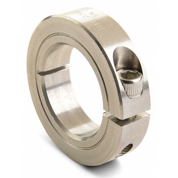 Ruland Manufacturing Shaft Collar, Clamp, 1Pc, 1-1/16 In, 303 SS CL-17-SS