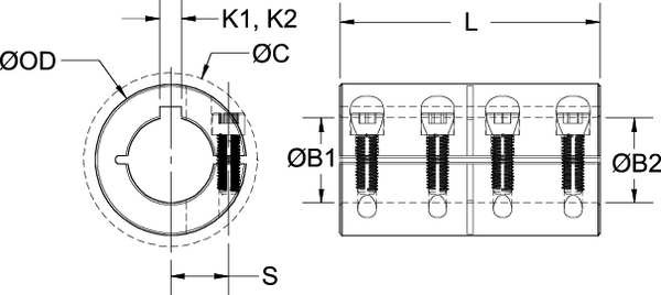 Coupling,One Piece,Bore Dia 1 In RULAND MANUFACTURING CLC-16-16-F