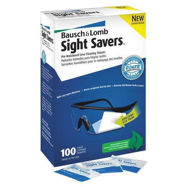 Bausch & Lomb Pre-moistened Cleaning Tissues,  Sight Savers,  100 Pack 8574GM