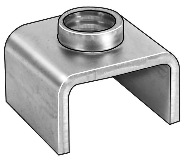 """Zoro Select 1/4""""-20 Cold Rolled Steel Square T-Joint Fastener,  10 pk. 0375B"""