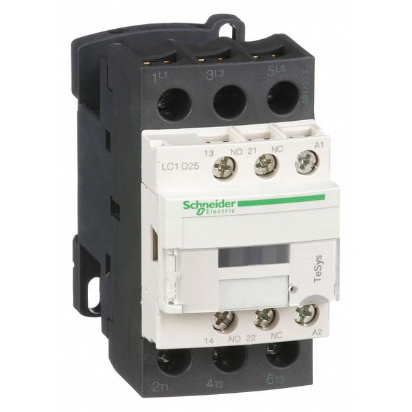 Schneider Electric 120VAC Non-Reversing IEC Magnetic Contactor 3P 25A LC1D25G7