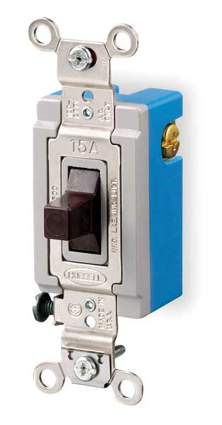 Hubbell Wiring Device-Kellems Wall Switch,  120/277V,  20A,  3-Position,  Rated HP: 1 HBL1557