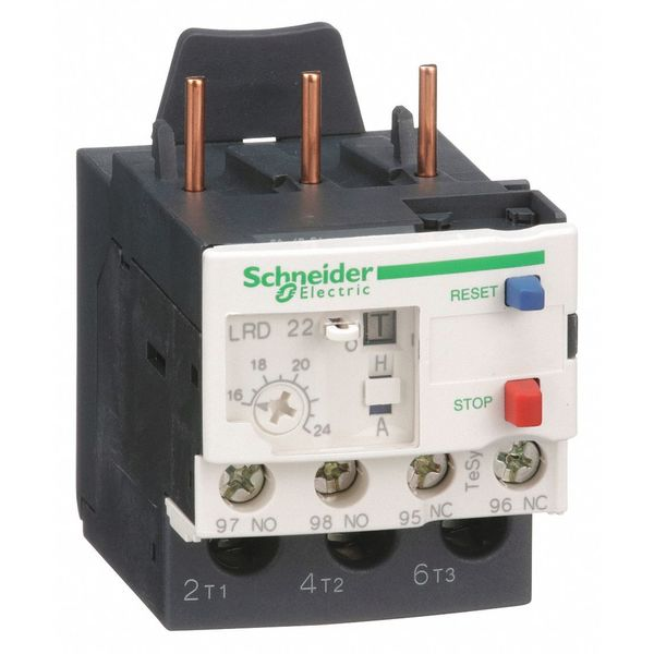 Schneider Electric Ovrload Relay, 16 to 24A, 3P, Class 10,690V LRD22