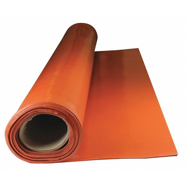 E. James Roll, Silicone, 1/8 in. Thick, 5 ft., 40A 2840-1/8-5