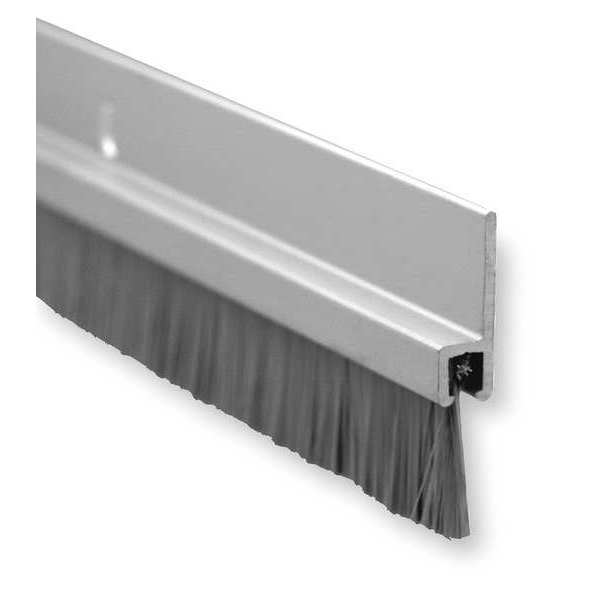 "Pemko Anodized Aluminum Door Sweep with 5/8"" Brush Insert,  3 ft. 18061CNB36"