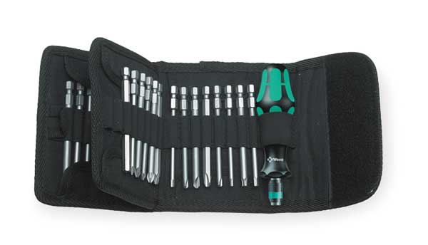 Wera Multi-Bit Screwdriver, 32-in-1, 5 in. 05059297001