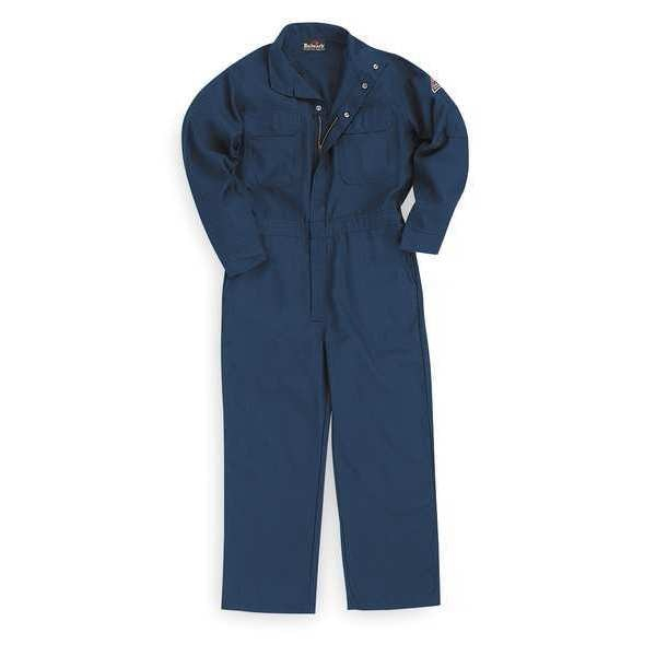 Bulwark Flame-Resistant Coverall, Navy, L, HRC1 CNB6NV LN 44