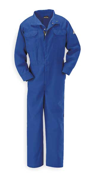 Bulwark Flame-Resistant Coverall, Blue, 4XL, HRC1 CNB6RB RG 58