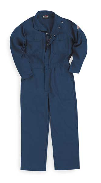 Bulwark Flame Resistant Coverall,  Navy Blue,  Nomex(R),  M CNB2NV RG 38