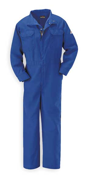 Bulwark Flame-Resistant Coverall, Royal Blue, L CNB2RB LN 44