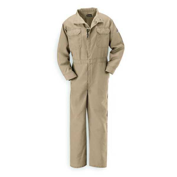 Bulwark Flame Resistant Coverall,  Tan,  Nomex(R),  2XL CNB2TN RG 50