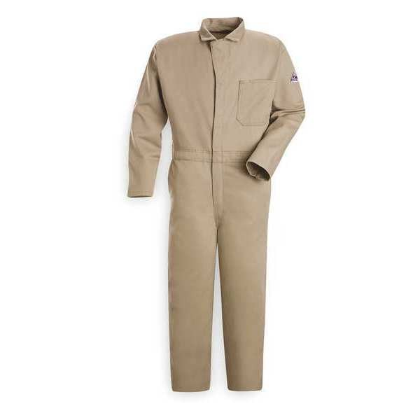 Bulwark Flame Resistant Contractor Coverall,  Khaki,  XL,  Fits Chest Size: 48 in CEC2KH RG 48