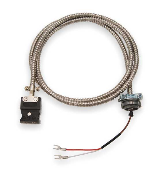Tempco Thermocouple Ext Wire, J, 20AWG, Str, 10Ft ECA00071