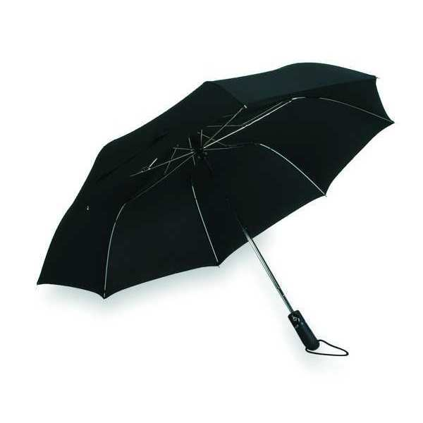 Zoro Select Umbrella,  46 In,  Black 3GRR8