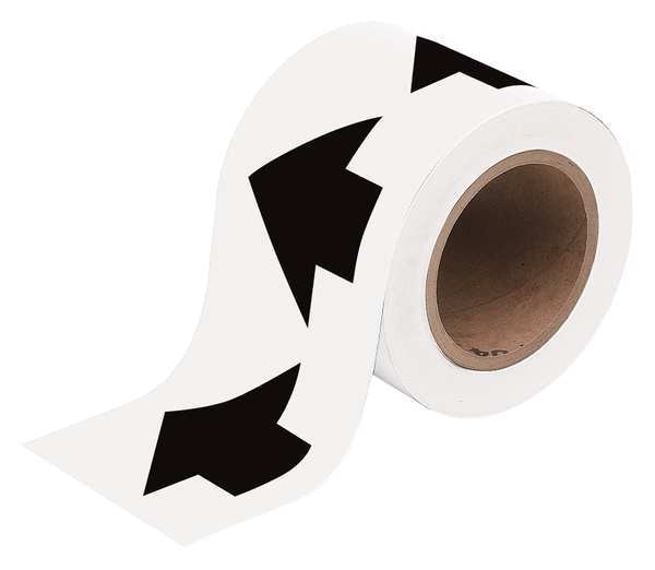 Brady Arrow Tape, Black/White, 4 In. W 91409