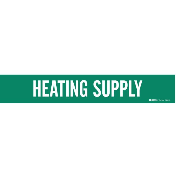 Brady Pipe Mrkr, Heating Supply, 2-1/2to7-7/8 In 7363-1