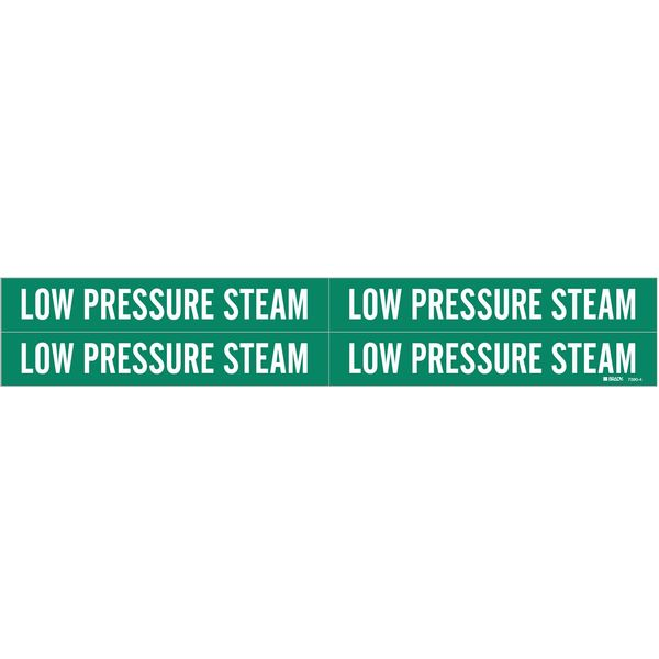 Brady Pipe Mrkr, Low Pressure Steam, 3/4 to2-3/8 7390-4