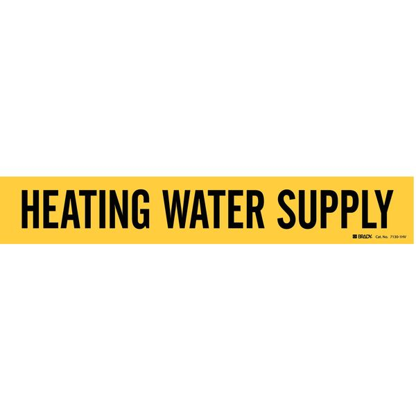Brady Pipe Mkr, Heating Water Supply, 8In orGrtr 7130-1HV