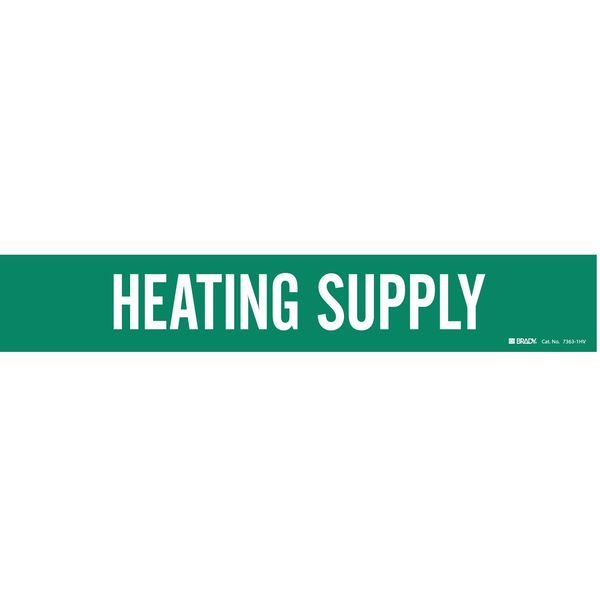 Brady Pipe Markr, Heating Supply, Gn, 8 In orGrtr 7363-1HV