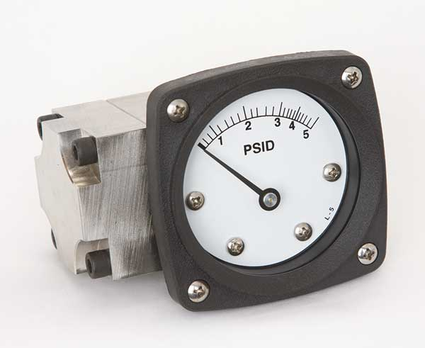 Midwest Instrument Pressure Gauge, 0 to 5 psi 142-SA-00-OO-5P