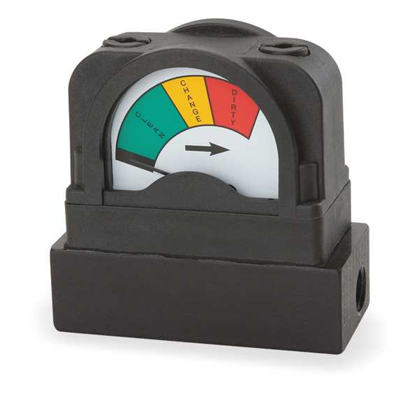 Midwest Instrument Pressure Indicator, 0 to 10 psi 555A-10.0