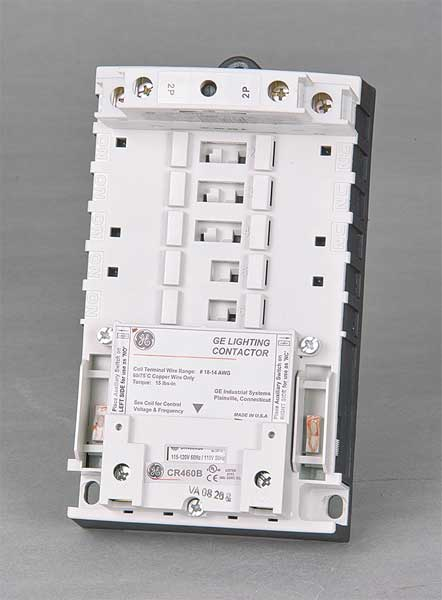 Ge 120VAC Electrically Held Lighting Contactor 2P 30A,  Hz: 50/60 CR463L20AJA