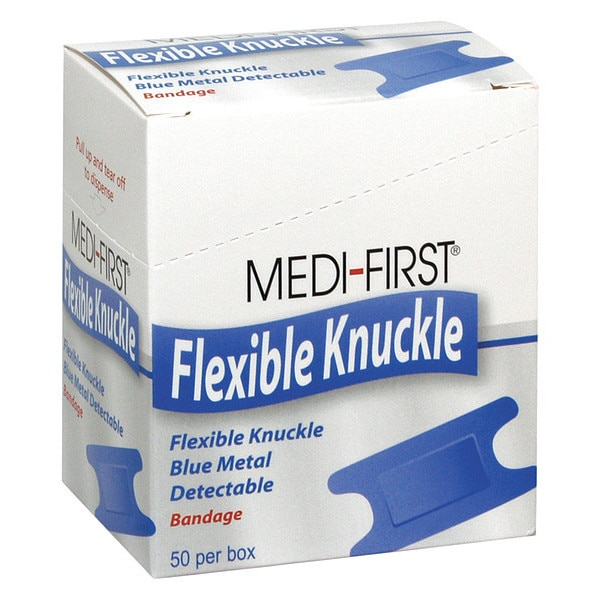 Medi-First Metal Detectable Knuckle Bandages,  PK50 65250