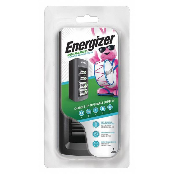 Energizer Battery Charger, 120VAC, NiMH, 3 Hr. CHFC