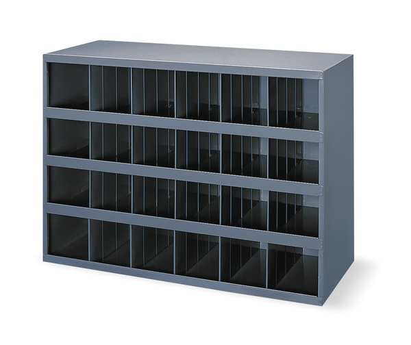 Durham Mfg Prime Cold Rolled Steel Pigeonhole Bin Unit ,  12 in D x 23 7/8 in H x 356-95