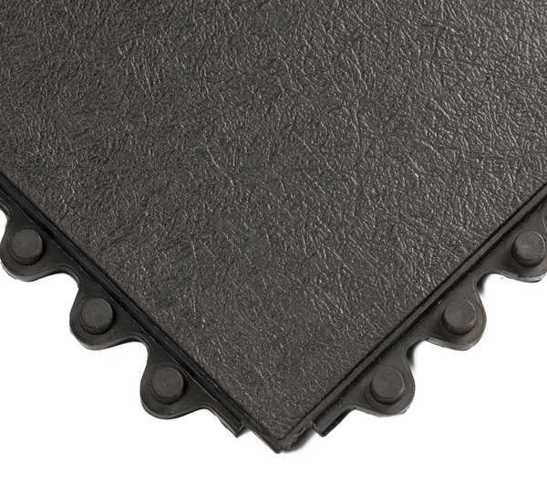 "Wearwell Black Interlocking Antifatigue Mat 3 ft. W x 3 ft. L,  5/8"" 570"