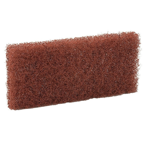 Remco Polyester Fibers/Abrasive Additives Cleaning Pad,  Brown 5523-10PK