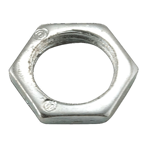 Raco Locknut, 3/8 In., Zinc Electroplated Steel 1001