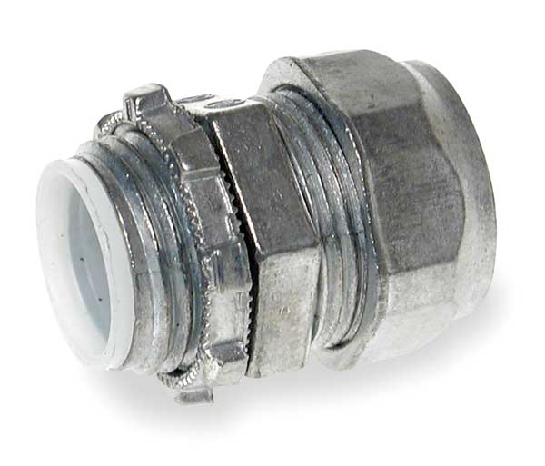 Zoro Select Compression Connector, 2 In, Zinc 3LT70