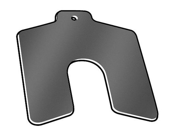 """Precision Brand Slotted Shim with Tab A-2""""x2"""",  0.0040"""" Thickness,  Pk20 42122"""