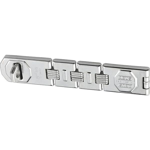 Abus Concealed Hinge Pin Hasp, Fixed, Chrome 110/230
