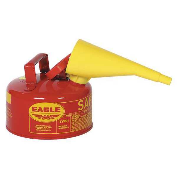 Eagle 1 gal. Red Galvanized steel Type I Safety Can for Flammables UI10FS