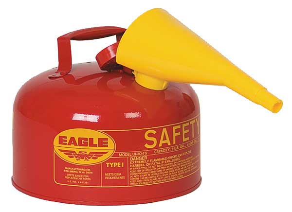 Eagle 2 gal. Red Galvanized steel Type I Safety Can for Flammables UI20FS