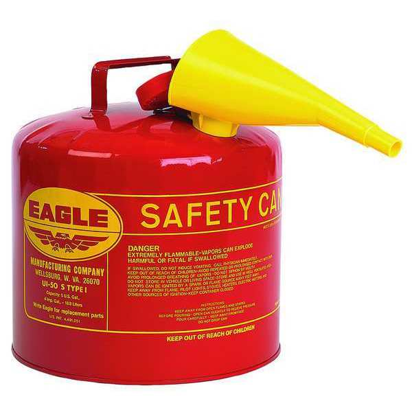 Eagle 5 gal. Red Galvanized steel Type I Safety Can for Flammables UI50FS