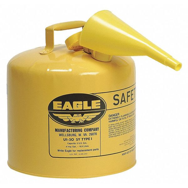 Eagle 5 gal. Yellow Galvanized steel Type I Safety Can for Diesel UI50FSY