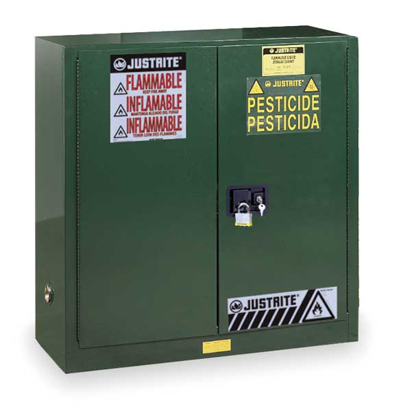 Justrite Cabinet,  Pesticide,  Green,  30 Gallon 893004