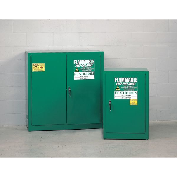 Eagle Pesticide Cabinet, 12 gal., Self Closing PEST24