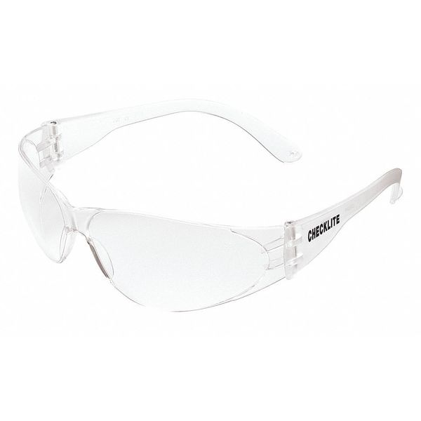 Mcr Safety Checklite® Safety Glasses Clear Frame ,  Clear Scratch-Resistant Lens CL110