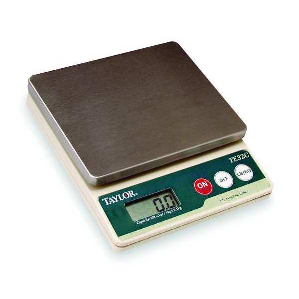 Taylor Digital Compact Bench Scale 2 lb. Capacity TE32FT