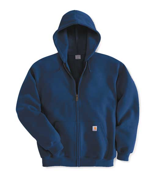Carhartt Hooded Swtshrt, Nvy, 50Cotton/50PET, XL K122-472 XLG REG