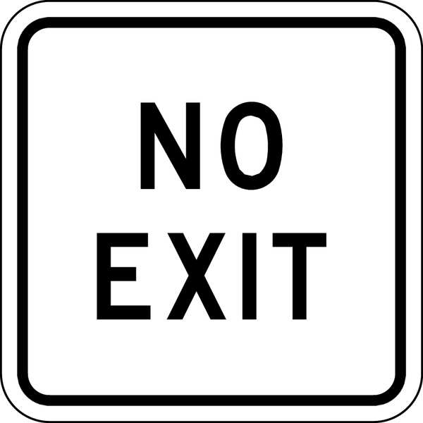 Lyle Traffic Sign, 18 x 18In, BK/WHT, DMD GR AL FA-022-18DA