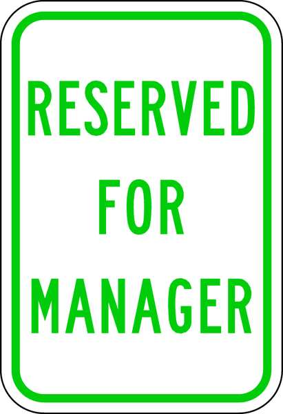 Lyle Employee,  Faculty & Staff Parking Sign,  12 in W,  18 in H,  English RP-128-12HA