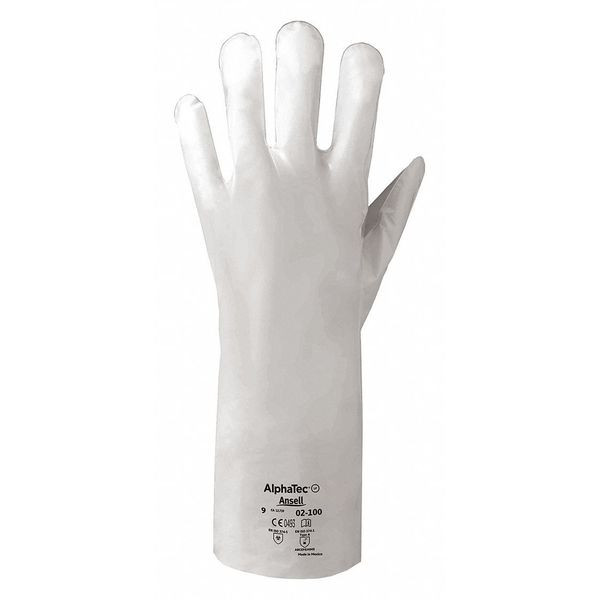 Ansell Chemical Resistant Glove,  2-1/2 mil,  PR,  Glove Size: 6 02-100